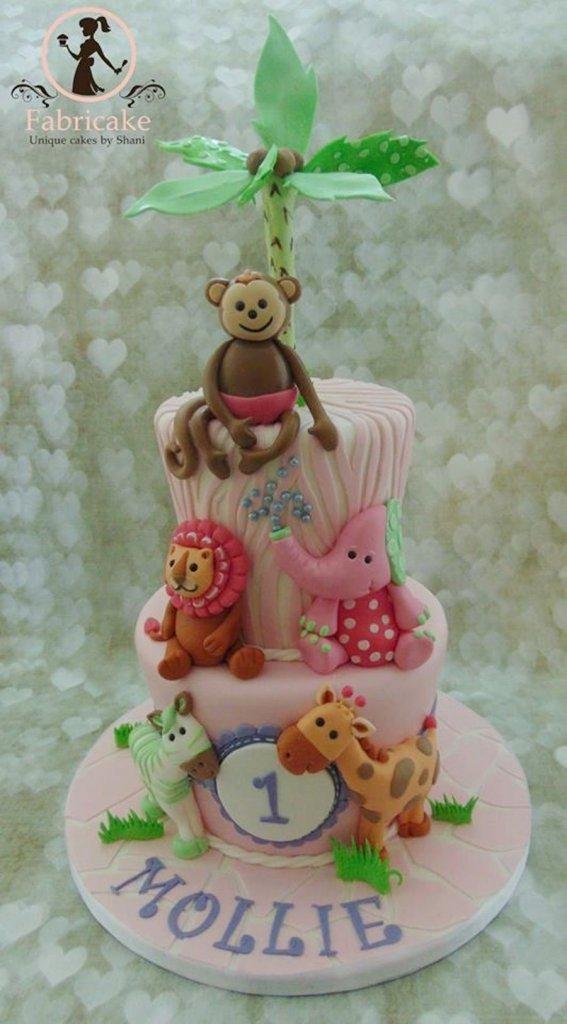 900 first birthday jungle cake 918362vWpLE 567x1024 - کیک تولد با تم کودکانه