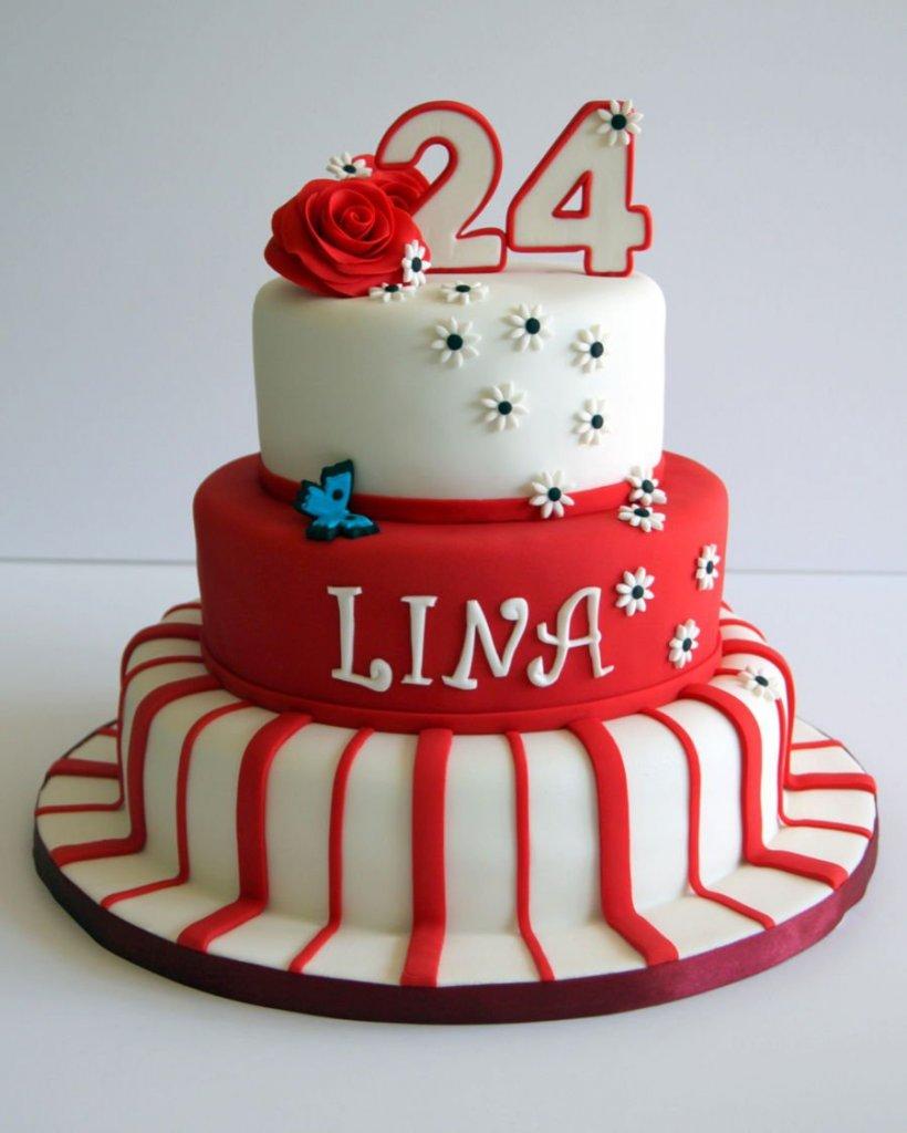 900 linas 24th birtdhay cake 977829iaKvV 820x1024 - کیک تولد با تم کودکانه