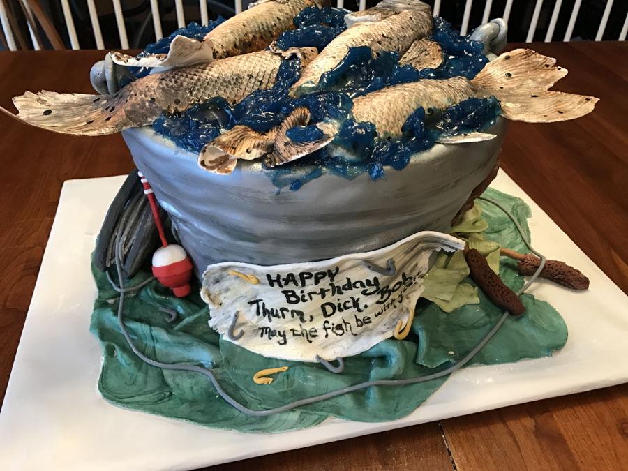 900 may the fish be with you 49933TvHCU - کیک تولد با تم کودکانه