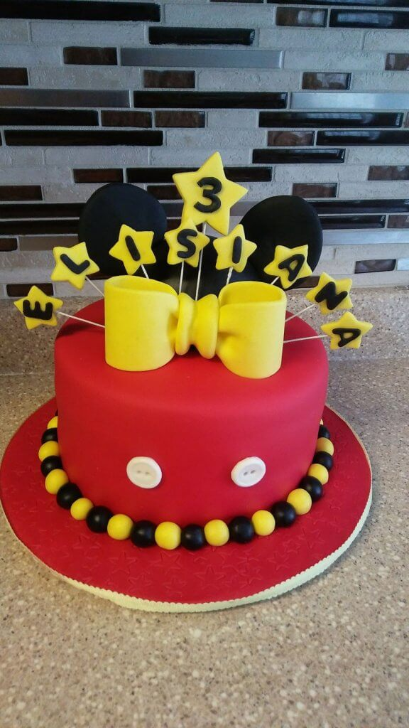 900 mickey mouse birthday cake 552763Zcmi8 576x1024 - کیک تولد با تم کودکانه