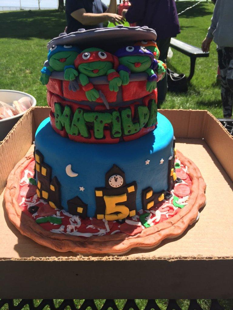 900 ninja turtles cake 989422mmc5G 768x1024 - کیک تولد با تم کودکانه
