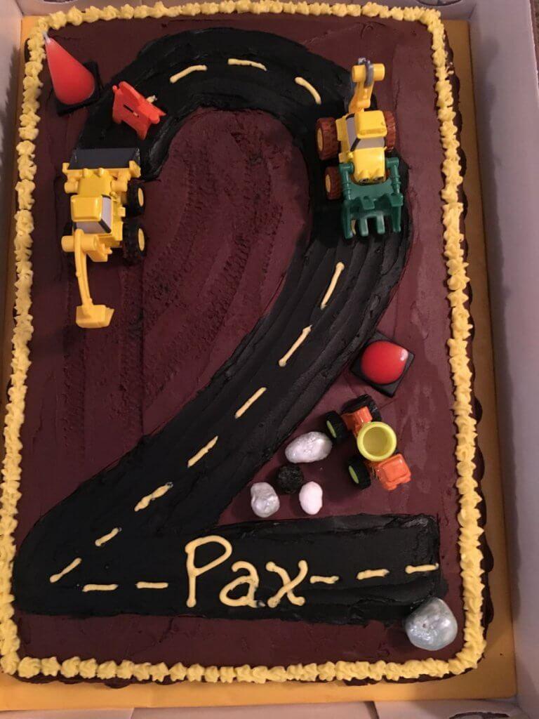 900 number 2 birthday cake construction cake 633629NpBH4 768x1024 - کیک تولد با تم کودکانه