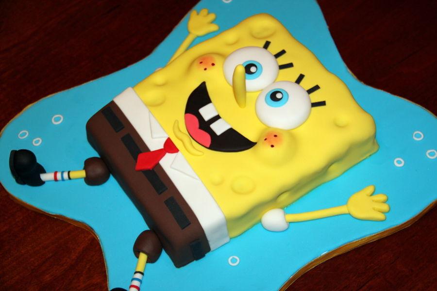 900 spongebob squarepants 977829RyStl - کیک تولد با تم کودکانه