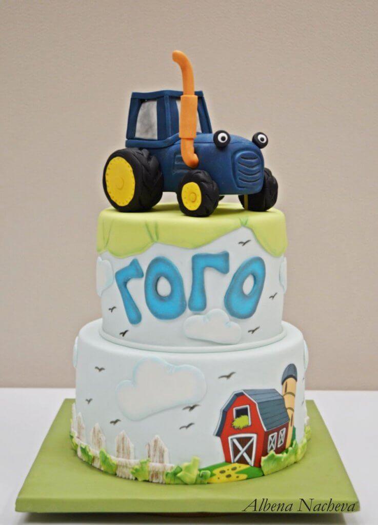 900 tractor cake 984707JLxz2 737x1024 - کیک تولد با تم کودکانه