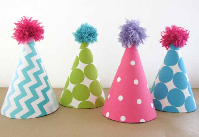 Fabric Covered Party Hats 19 - کلاهای جذاب جشن تولد