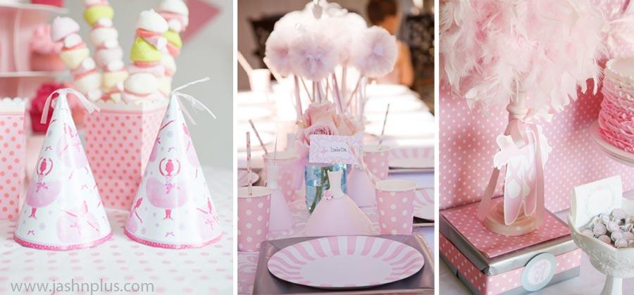 Pembe Tütü Balerin Temalı Doğum Günü Partisi 6 - جشن تولد صورتی برای دختران