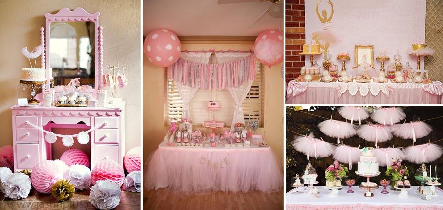 Pembe Tütü Balerin Temalı Doğum Günü Partisi 8 - جشن تولد صورتی برای دختران