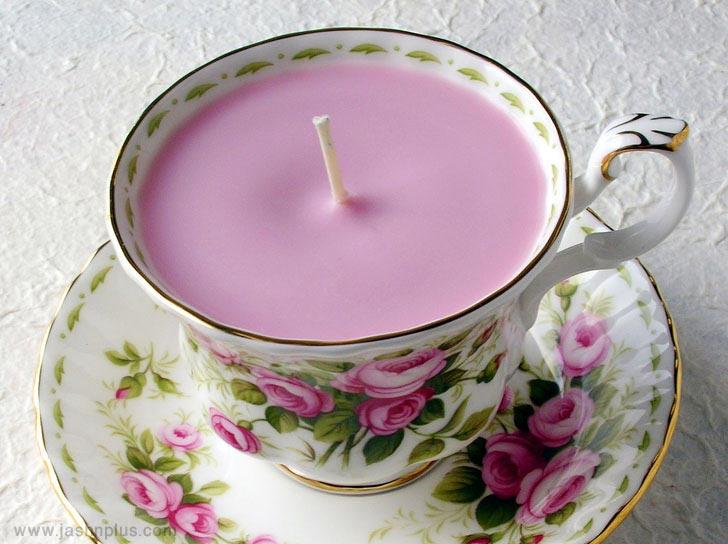 Pink Teacup Candle - توصیه هایی برای انتخاب بهترین کادوی تولد برای دختر خانمها