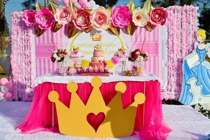 Royal Princess Birthday Party via Karas Party Ideas KarasPartyIdeas.com4  1 - چند ایده جذاب تم تولد برای کودکان 1 تا 3 سال