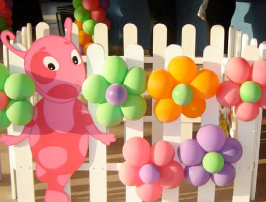 balloon ideas for a girls birthday party.001 - بادکنک آرایی کودکانه جذاب