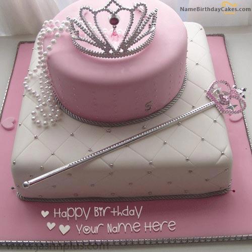 birthday cake for girl princess name pix c319 - مدل های زیبای کیک تولد دخترانه برای دختر خانم های ایرانی