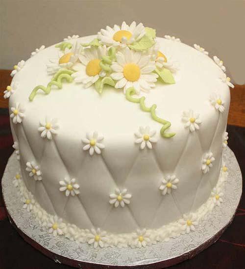 cake sefid - کیک تولد بزرگسالان