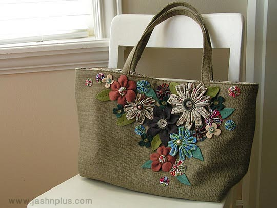 flowers bag tutorial - توصیه هایی برای انتخاب بهترین کادوی تولد برای دختر خانمها