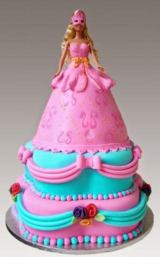 r3 - انواع کیک تولد باربی برای دختر خانمهای ایرانی