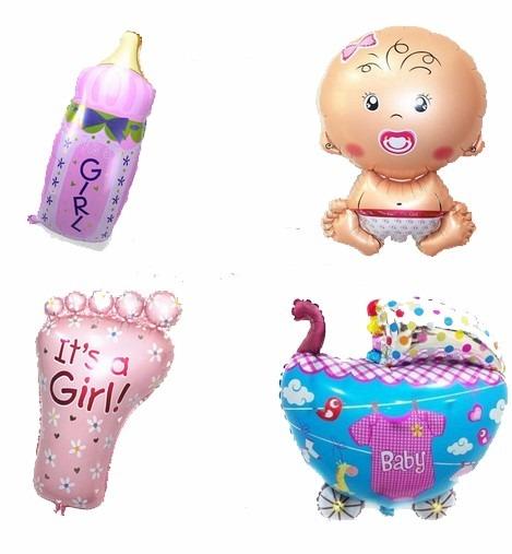 paquete de 10 globos metalicos baby shower 9 fiestas bebe D NQ NP 992501 MLM20337801369 072015 F - بادکنک های فویلی و استفاده های مختلف از آن