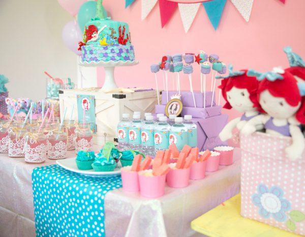 تولد پری دریایی 1 600x465 - تم تولد پری دریایی برای دختر خانوم های رویایی