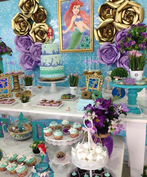 تولد پری دریایی 11 - تم تولد پری دریایی برای دختر خانوم های رویایی