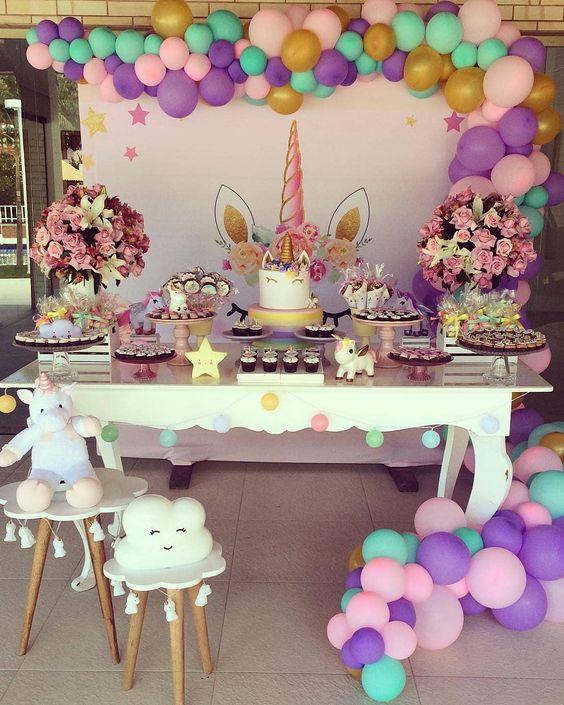 یونیکورن 1 36 - تم تولد یونیکورن و جشن تولدی شاد و متفاوت