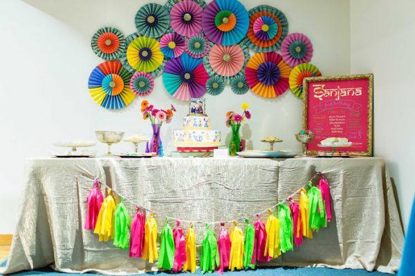میز تولد 1 12 600x400 - تزئینات خانه برای جشن تولد ، تولدی زیبا در خانه با این ایده ها