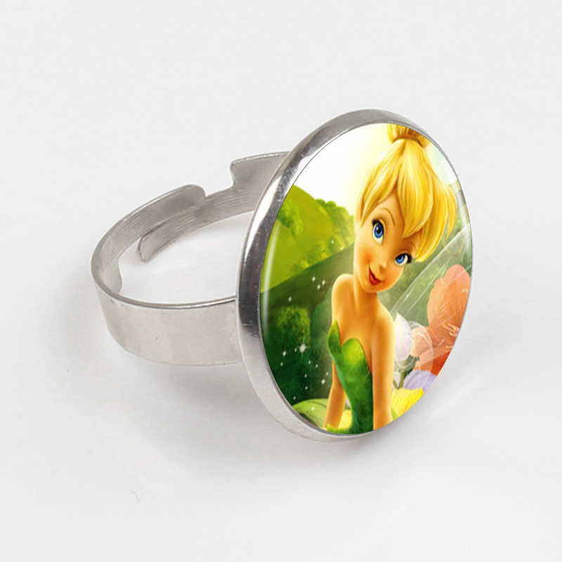 ZBOZWEI 2018 Logo Ring Hot Sale Fashion Cute TinkerBell Ring Accessories For Child Girls Bronze Ring.jpg q50 - تم تولد تینکربل تمی هیجان انگیز برای دختر خانوم ها