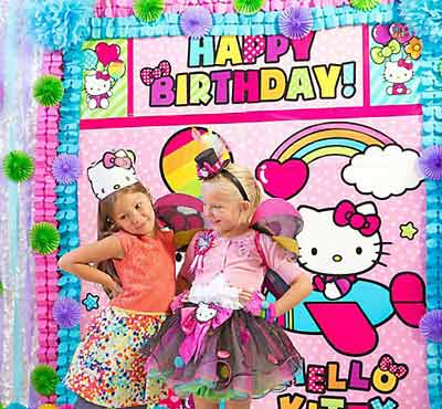 hello kitty birthday party theme64 - تم تولد کیتی تمی دوست داشتنی برای دختر خانوم ها