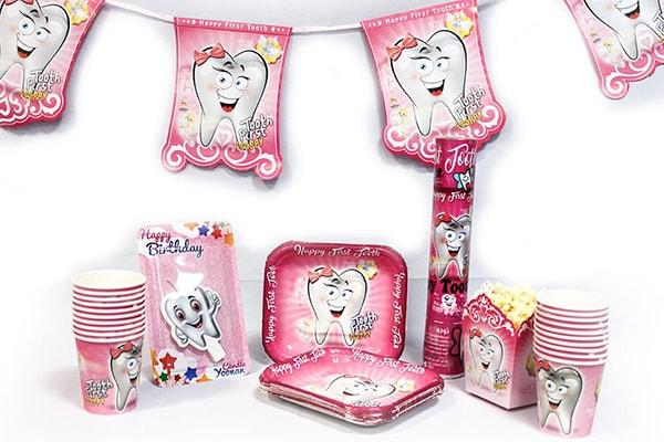 تم دندونی دخترانه - تم های ناز و دوست داشتنی برای تولد های دخترانه