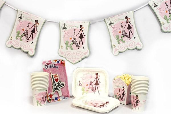 تم پاریس 1 - تم های ناز و دوست داشتنی برای تولد های دخترانه