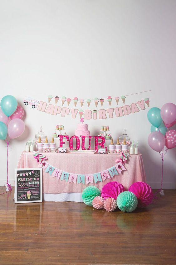 Decoration of the birthplace 2 - جشن تولدی رویایی با انتخاب بهترین تم تولد دخترانه