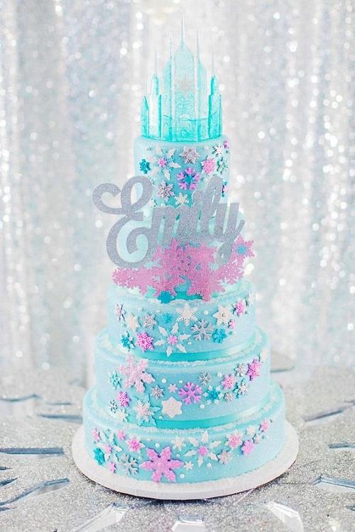 frozen castle birthday cakes for girls - ایده هایی برای تهیه ی زیباترین کیک تولد دخترانه