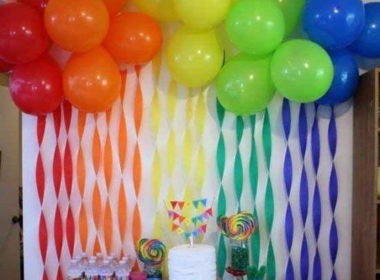 photos Birth decorated with paper 5 550x405 - ایده هایی برای جشن تولد کودکان ، جشنی مجلل با ایده هایی ارزان